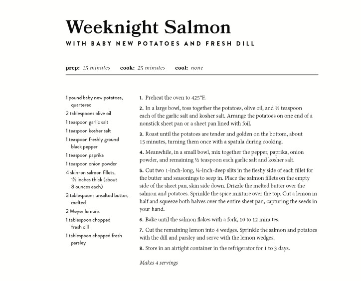 Weeknight Salmon recipe